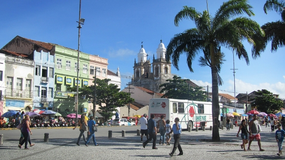 On of the central park in Recife
