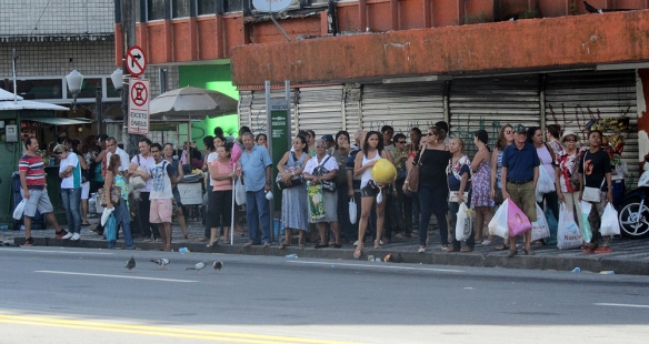 People waiting for the bus