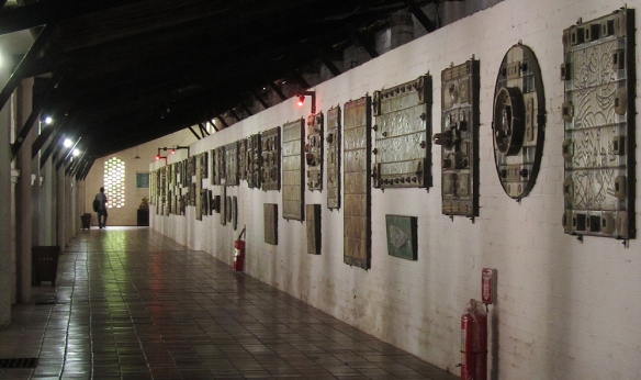 A hall with ceramic paintings