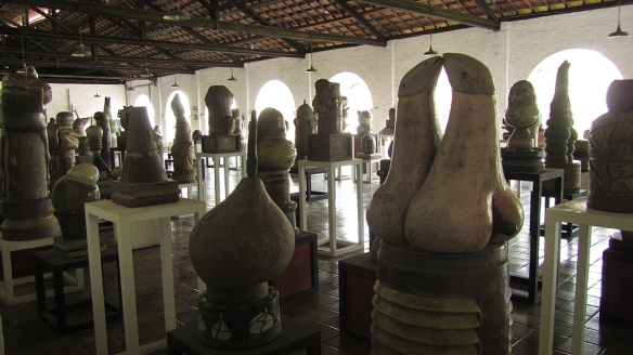 One of the rooms filled with sculptures