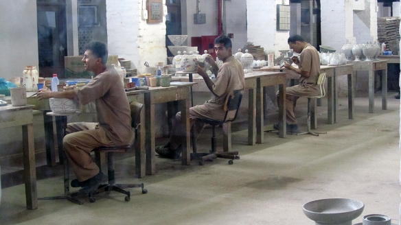 The factory where they make wall tiles