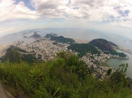 View over Rio and sugar loaf mountain