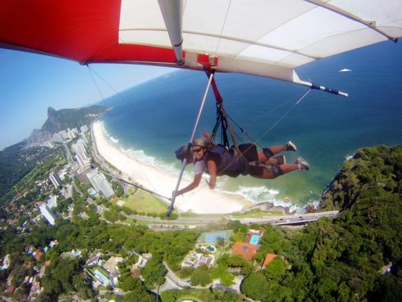 Hang gliding over Rio de Janeiro!!