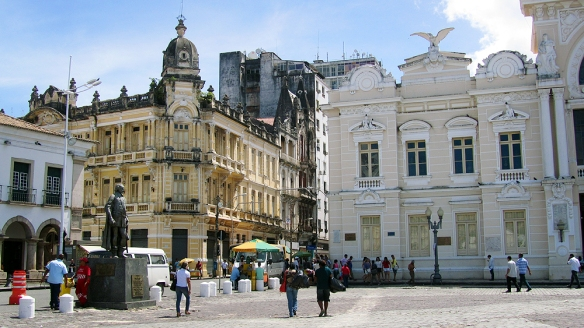 A few important buildings in the cidade alta, the higher town and historical center