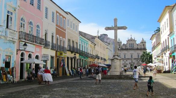 Peulorinho neighborhood. Mostly stores, cafés and hotels.