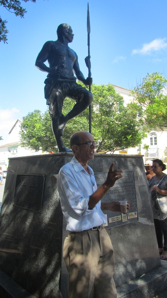 Zumbi dos Palmares and our guide Luis