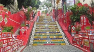 The famous tile stairs