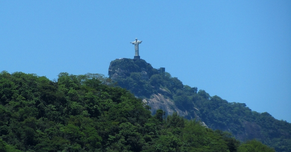Christ the redeemer seen from Santa Teresa