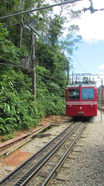 The famous Corcovado train that goes up to the christ.