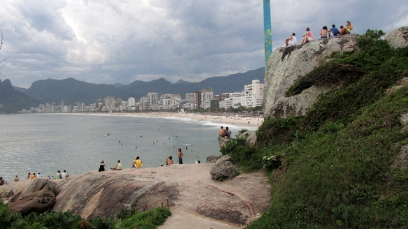 View from the rocks between Ipanema and Copacabana beach.