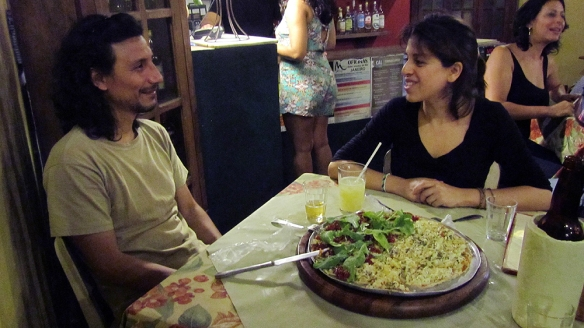 Good bye dinner with my lovely hosts. Had veggie pizza at the local restaurant/bar