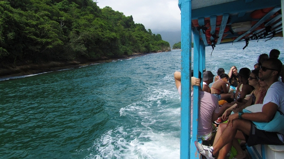 On the boat to Lopes Mendes