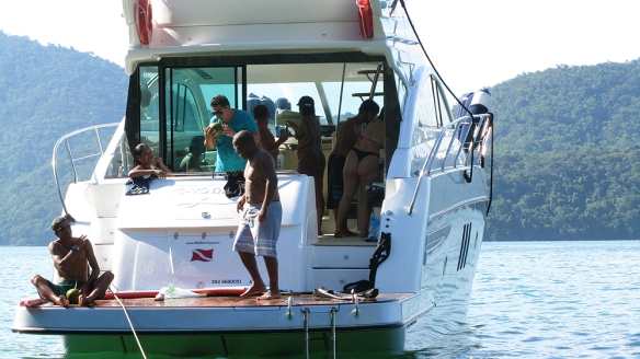 Typical brazilians having a party on a boat, haha!