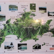 Map over the island