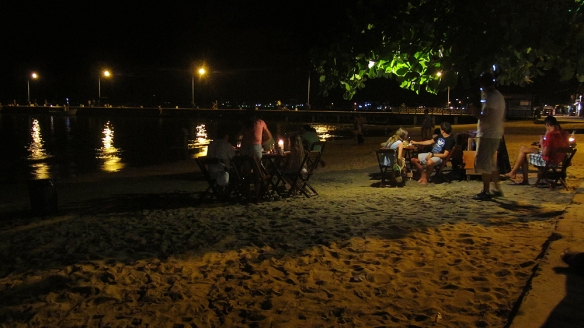Night by the beach. So cozy