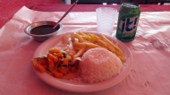 having a typical brazilian lunch but with a vegetarian crepe (and rice and beans and french fries of course)