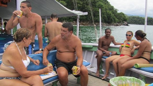 Only Brazilians on the boat!