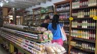 Typical food souvenir shop.
