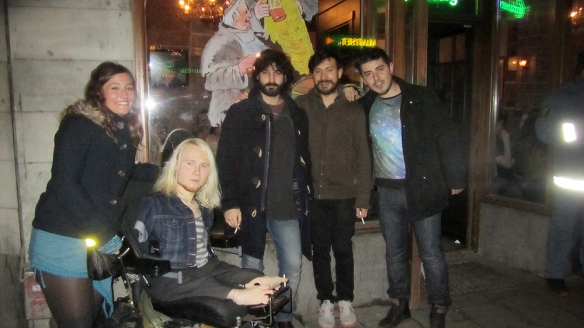 Together with Adam, Sinan and my friend from Mexico Alejandro, and his friend.