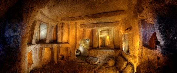 Picture of the Ħal Saflieni Hypogeum from Malta Heritage Site. Didn't look like this while you were there though since only a few parts were lit up at a time.