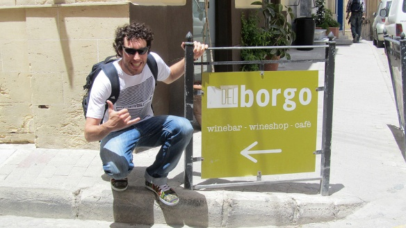 The Borgo himself in Vittoriosa!