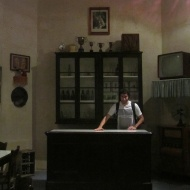 Duilio attending in an old bar in the Malta Maritime Museum. Hehe