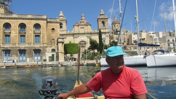 Taking a boat taxi with this man over to Valetta!