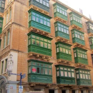 Looks fun. A little bit to many traditional maltese balconies for one building, if you ask me.