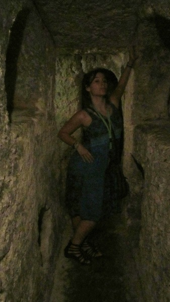 This is me, in St Pauls Catacombs
