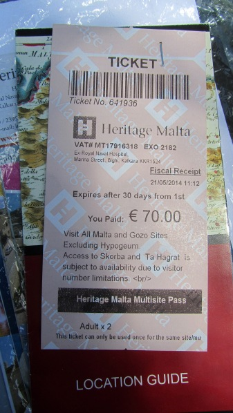 The Heritage Malta Multi Pass