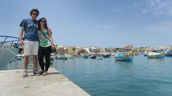 In Marsaxlokk bay!