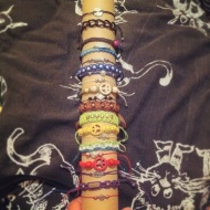 The bracelets I've done during sleepless nights
