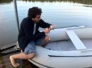 Duilio preparing for fishing
