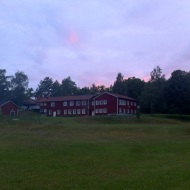 The house at sunset