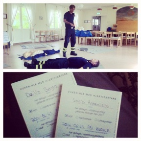 A course with Räddningstjänsten, now certified in cardiopulmonary resuscitation :)
