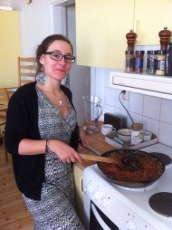 In the kitchen, cooking for the leaders (first weekend)