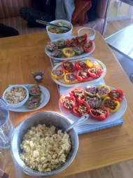 Prepared stuffet vegetarian peppers. :) (first weekend only for leaders)