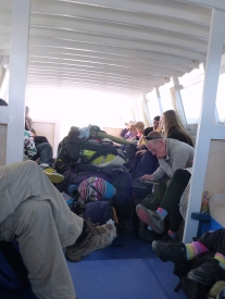 In the boatferry from Isla del sol to Copacabana