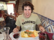 Duilio Happy with his bacalao :)