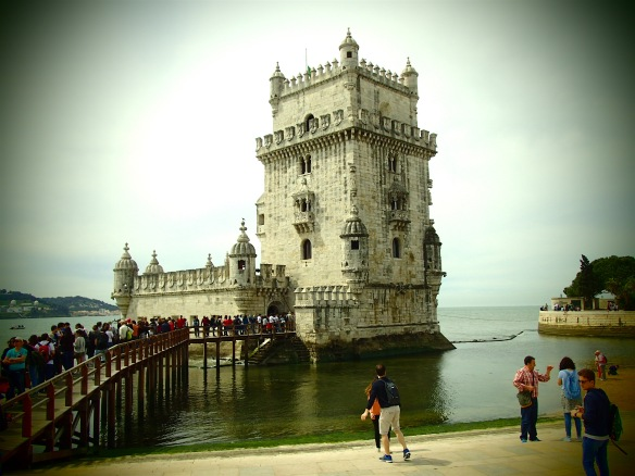 The Tower of Belém, from the 1500, a military outpost to protect from pirates and enemies