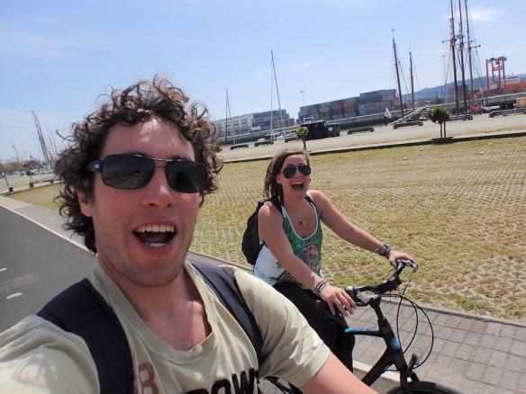 Selfie while biking! Haha