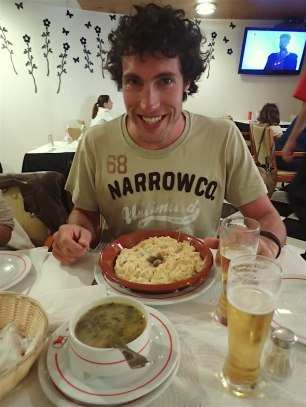 Duilio, as always, happy about his food :)