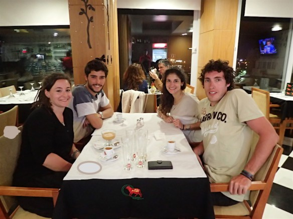 Having dinner with Miguel and Leonor :)