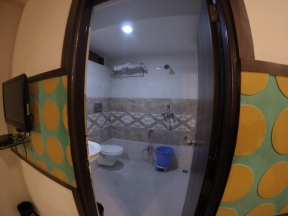 Bathroom in the hotel in jaipur
