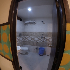 Bathroom in the hotel in jaipur