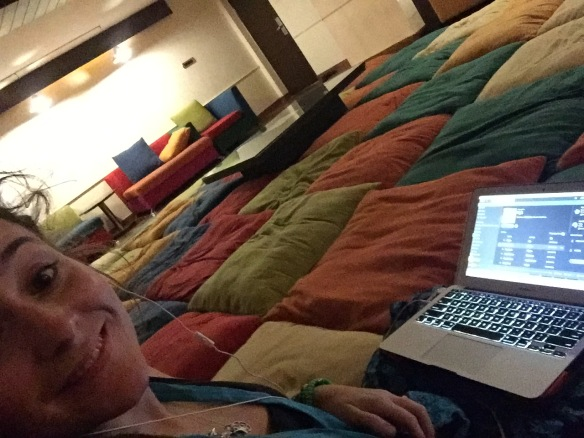 Enjoying the cuddly silence room :)