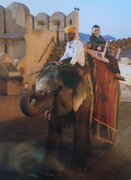 Me on my elephant ride!