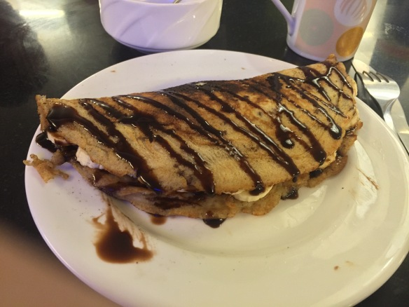 Mmm... chocolate banana pancakes :)