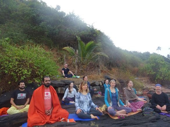 morning meditation at the beach. Ayses picture