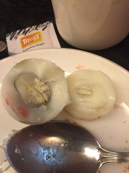 Not so nice egg. No thank you.